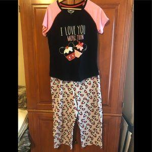 Disney Cupcake Pajama Set Size XL